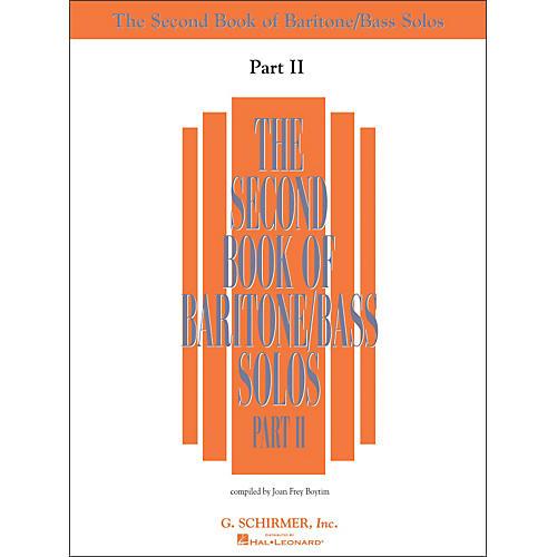G. Schirmer Second Book Of Baritone  /Bass Solos Part 2 Book Only