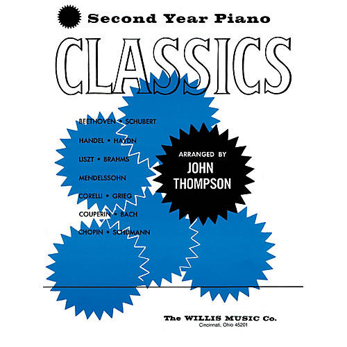 Willis Music Second Year Piano Classics - Book 2 (Later Elem Level) Willis Series