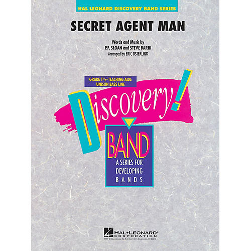 Hal Leonard Secret Agent Man Concert Band Level 1.5 Arranged by Eric Osterling