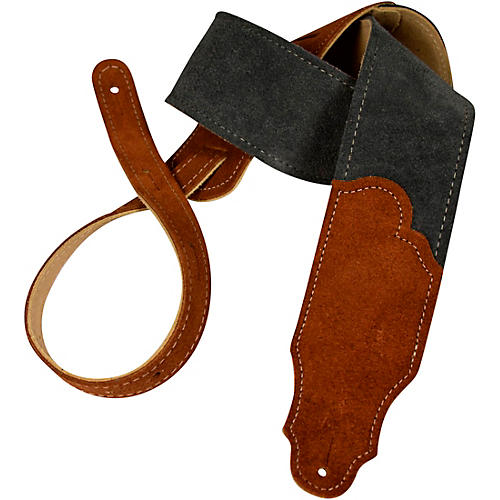 Franklin Strap Sedona Suede Guitar Strap Gray with Rust Endtabs