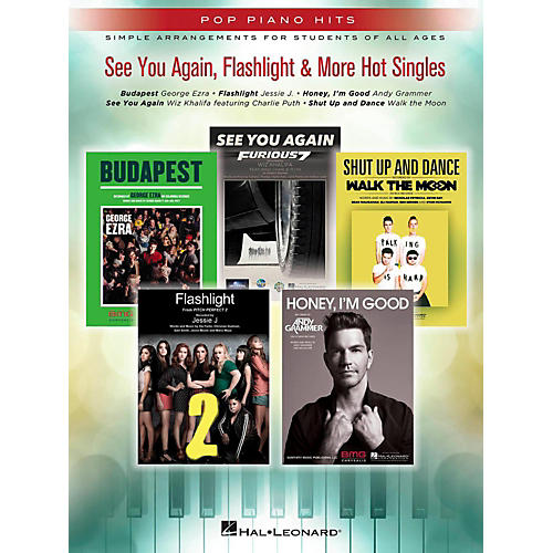 Hal Leonard See You Again, Flashlight & More Hot Singles for Easy Piano