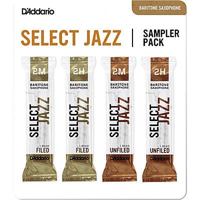D'Addario Woodwinds Select Jazz Baritone Saxophone Reed Sampler Pack