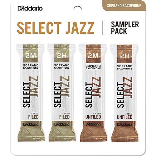 D'Addario Woodwinds Select Jazz Soprano Saxophone Reed Sampler Pack 2