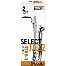 Select Jazz Unfiled Baritone Saxophone Reeds Strength 2 Soft Box of 5