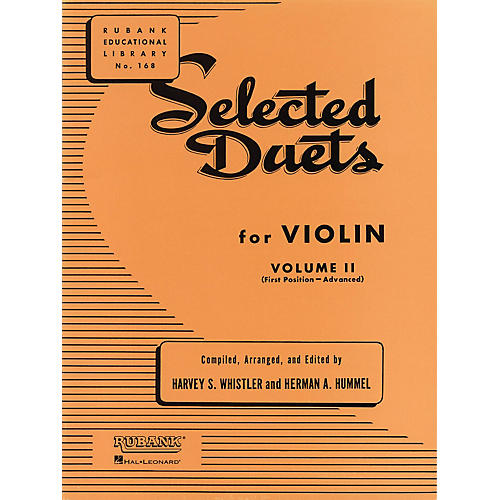 Rubank Publications Selected Duets for Violin - Volume 2 Ensemble Collection Series Arranged by Harvey S. Whistler