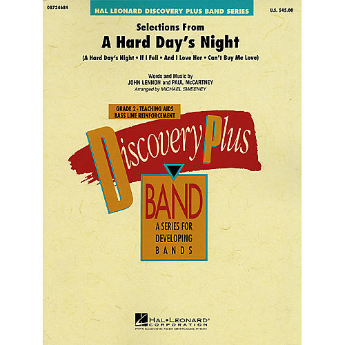 Hal Leonard Selections from A Hard Day's Night - Discovery Plus Concert Band Series Level 2 arranged by Sweeney