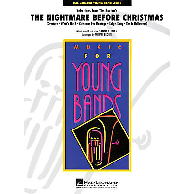 Hal Leonard Selections from The Nightmare Before Christmas - Concert Band Level 3 arranged by Michael Brown