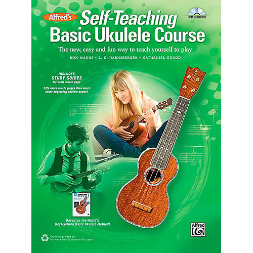 Alfred Self-Teaching Basic Ukulele Course Book & CD