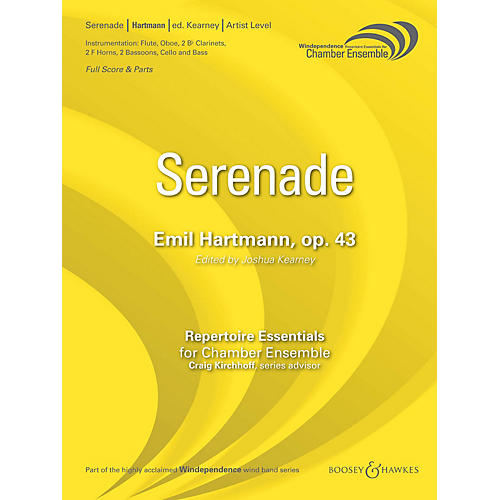 Boosey and Hawkes Serenade, Op. 43 (Score Only) Concert Band Level 5 Composed by Emil Hartmann