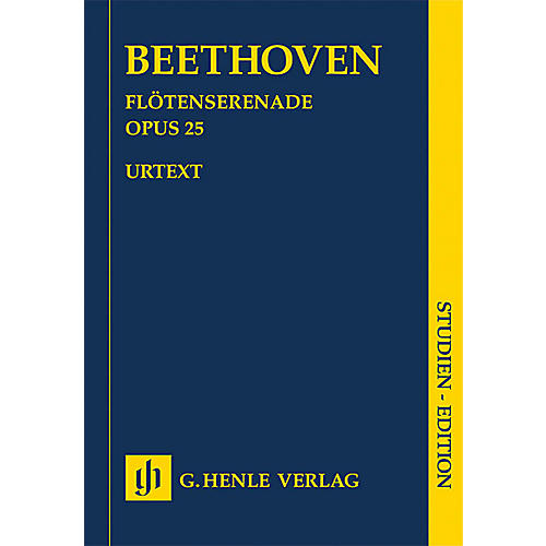 G. Henle Verlag Serenade for Flute, Violin and Viola in D Major, Op. 25 Henle Music Folios by Ludwig van Beethoven