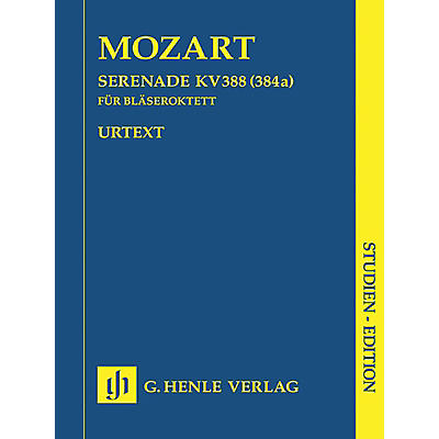 G. Henle Verlag Serenade in C minor K388 (384a) Henle Study Scores Series Softcover Composed by Wolfgang Amadeus Mozart