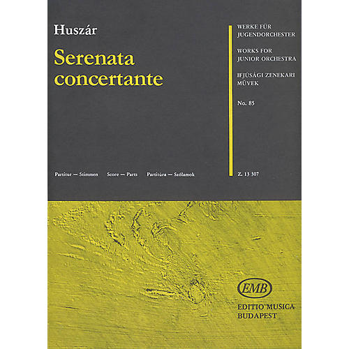Editio Musica Budapest Serenata Concertante (Flute and Junior String Orchestra) (Score and Parts) EMB Series by Lajos Huszár