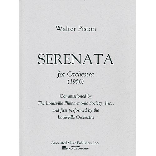 Associated Serenata (Full Score) Study Score Series Composed by Walter Piston
