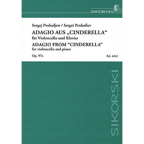 Sikorski Sergei Prokofiev - Adagio from Cinderella, Op. 97a (Violoncello and Piano) String Series Softcover