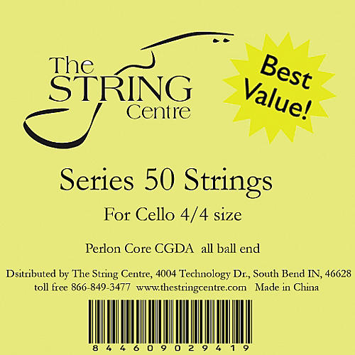 The String Centre Series 50 Cello String Set 3/4 Size