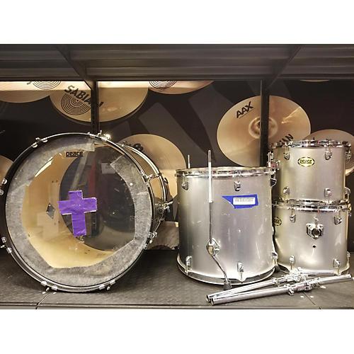 Peace Series Drum Kit silver metallic