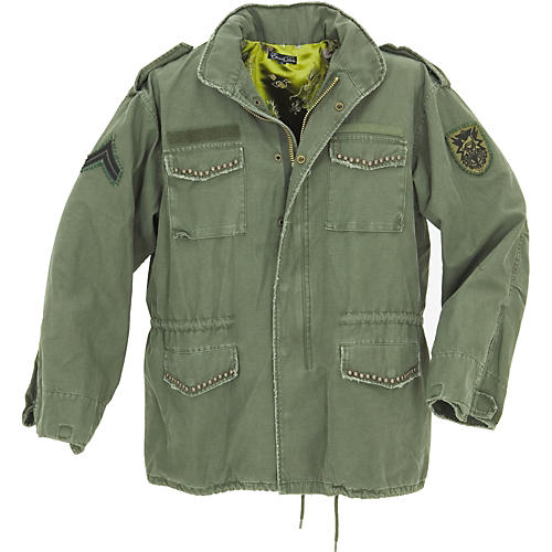 Dragonfly Clothing Serpent Skull Army Jacket