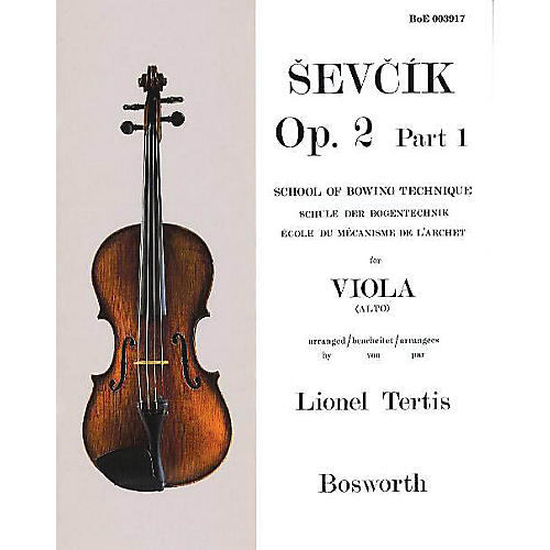 Bosworth Sevcik for Viola - Opus 2, Part 1 Music Sales America Series Written by Otakar Sevcik
