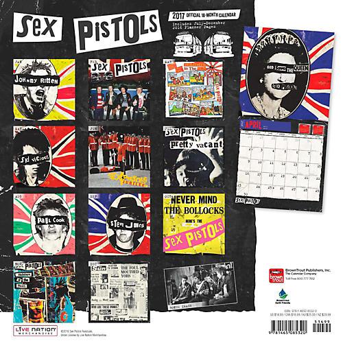 Browntrout Publishing Sex Pistols 2017 Live Nation Calendar