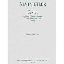 Associated Sextet Ob/bn/vn/va/vc Parts 1959 Ensemble Series by Alvin Etler