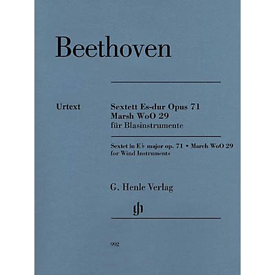 G. Henle Verlag Sextet in E-flat Major, Op. 71 and March, WoO 29 Henle Music Folios by Beethoven Edited by Egon Voss