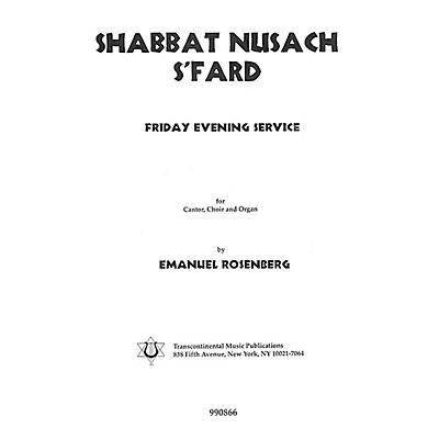 Transcontinental Music Shabbat Nusach S'Fard (Collection) (Friday Evening Service) SATB composed by Emanuel Rosenberg