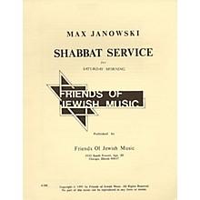 Transcontinental Music Shabbat Service For Saturday Morning SATB composed by Max Janowski