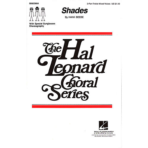 Hal Leonard Shades 2-Part composed by Hank Beebe