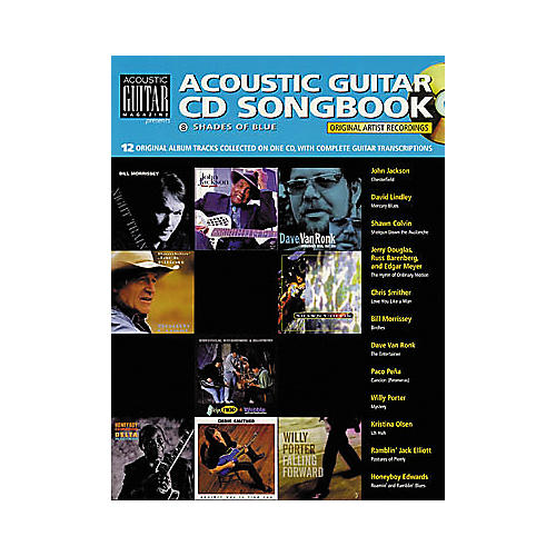 String Letter Publishing Shades of Blue Guitar Tab Songbook with CD