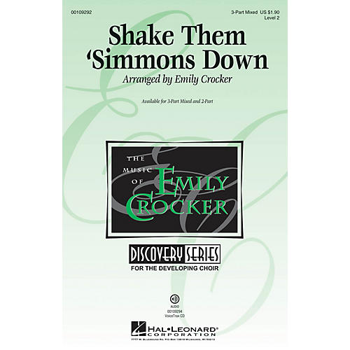 Hal Leonard Shake Them 'Simmons Down (Discovery Level 2) 3-Part Mixed arranged by Emily Crocker