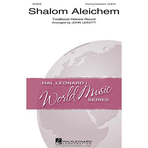 Hal Leonard Shalom Aleichem 3 Part Any Combination arranged by John Leavitt