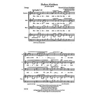 Transcontinental Music Shalom Aleichem SAB arranged by Gil Aldema