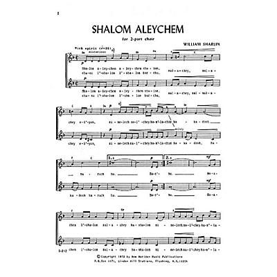 Transcontinental Music Shalom Aleychem SA composed by William Sharlin