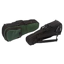 Shaped Viola Case Slip-On Cover Black with Backpack Straps
