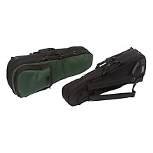 Shaped Viola Case Slip-On Cover Green with Backpack Straps