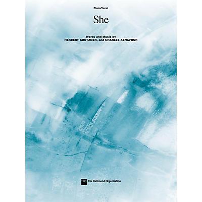 TRO ESSEX Music Group She Richmond Music ¯ Sheet Music Series