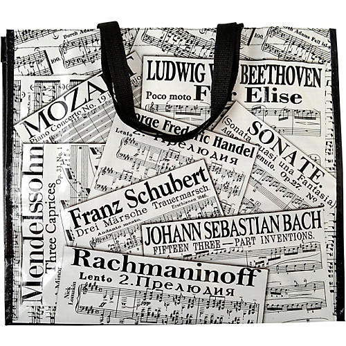 AIM Sheet Music Collage Tote Bag