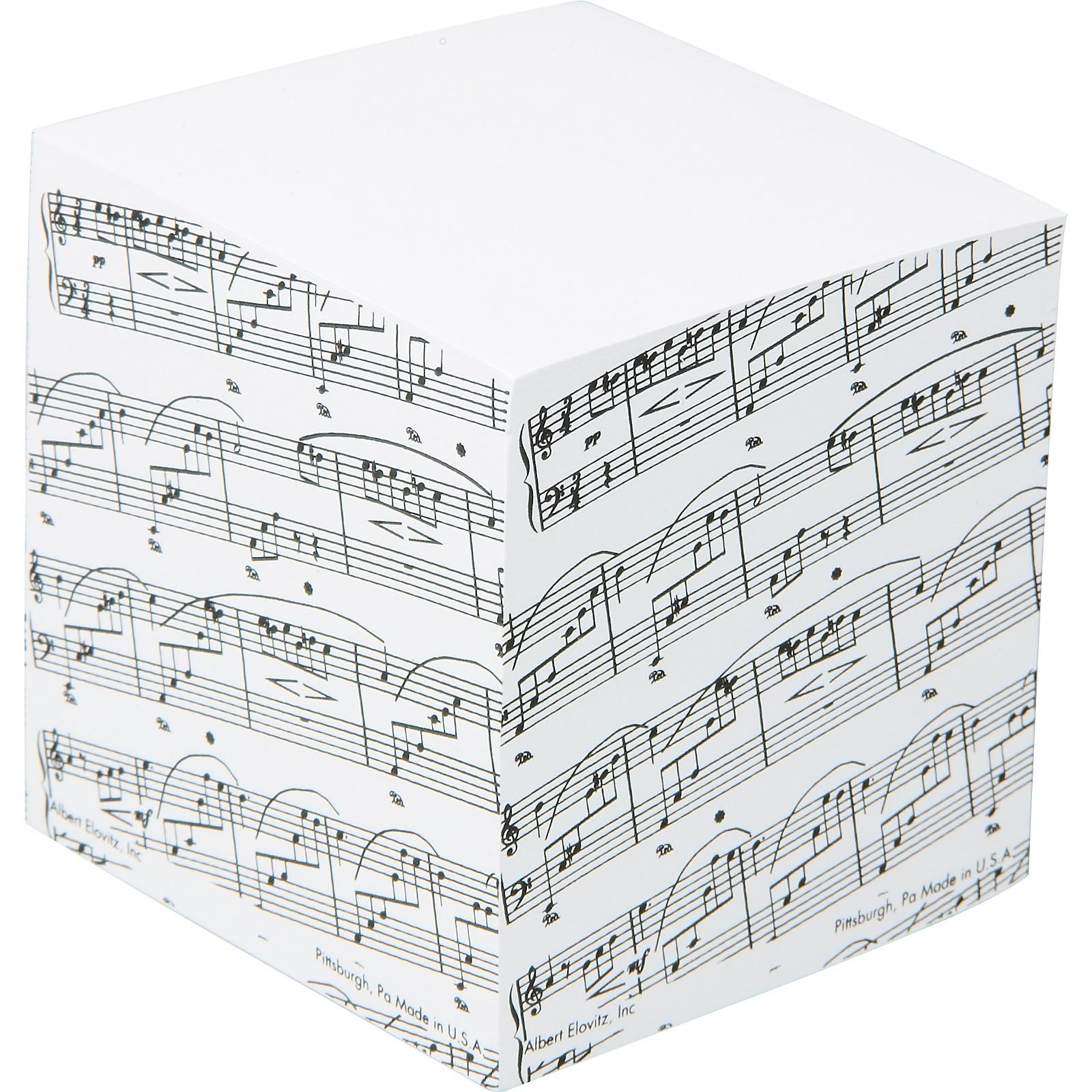 AIM Sheet Music Memo Cube