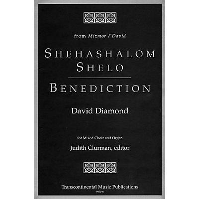 Transcontinental Music Shehashalom Shelo/Benediction SATB composed by David Diamond