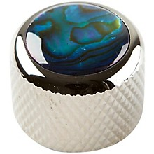 Shell Dome Knob Single Black Chrome Blue Abalone