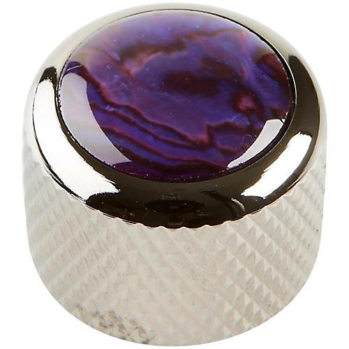 Q Parts Shell Dome Knob Single Black Chrome Purple Abalone