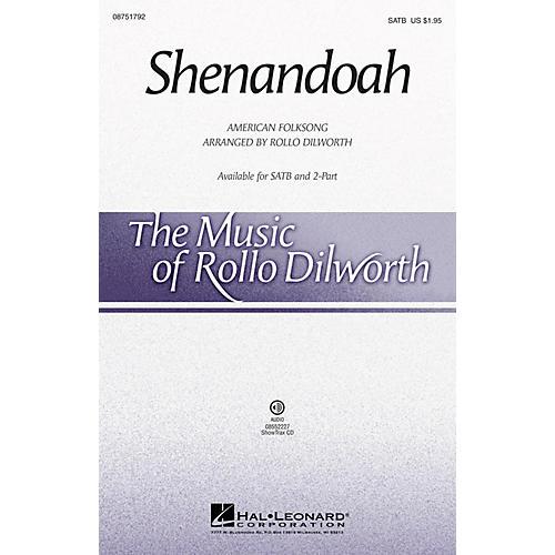Hal Leonard Shenandoah SATB arranged by Rollo Dilworth