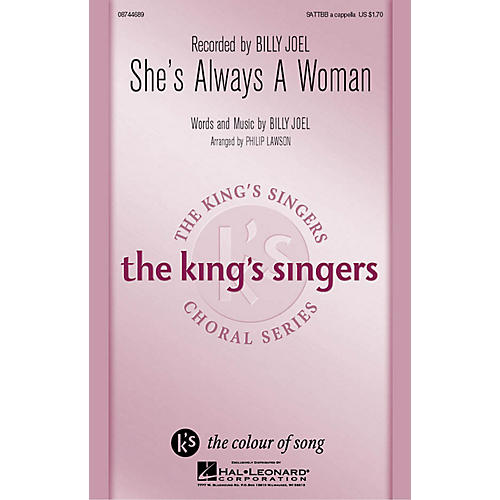 Hal Leonard She's Always a Woman SATTBB A Cappella arranged by Philip Lawson