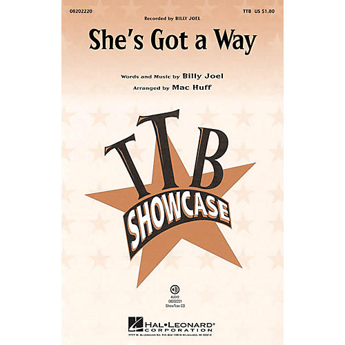 Hal Leonard She's Got a Way TTB by Billy Joel arranged by Mac Huff