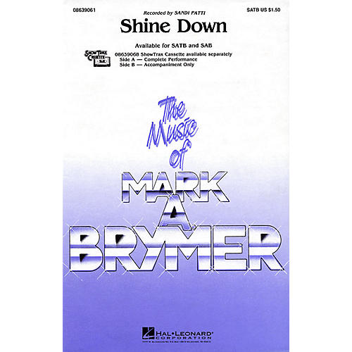Hal Leonard Shine Down SATB by Sandi Patti arranged by Mark Brymer