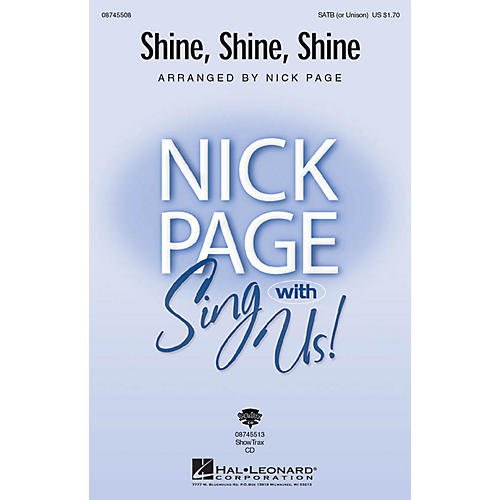 Hal Leonard Shine, Shine, Shine SATB (OPT UNISON) arranged by Nick Page