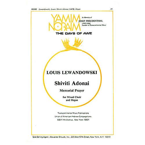 Transcontinental Music Shiviti Adonai (Memorial Prayer) SATB arranged by Samuel Adler