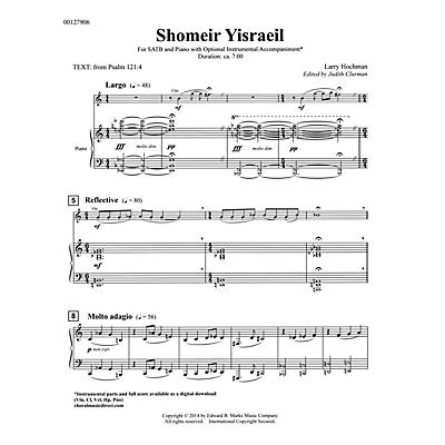Edward B. Marks Music Company Shomeir Yisraeil (Guardians of Israel) SATB Composed by Larry Hochman Edited by Judith Clurman