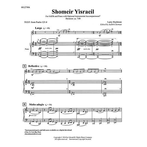 Edward B. Marks Music Company Shomeir Yisraeil (Guardians of Israel) SATB Composed by Larry Hochman Edited by Judith Clurman