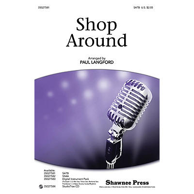 Shawnee Press Shop Around SSAA by The Miracles arranged by Paul Langford